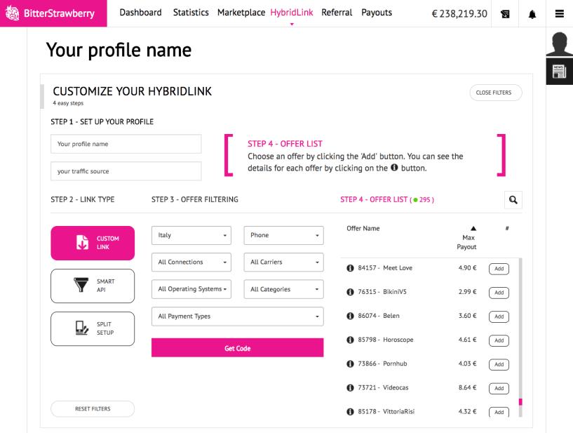 Biiterstrawberry hybridlink profile