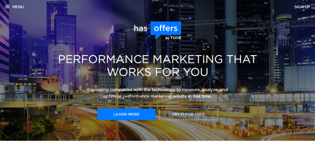 HasOffers by TUNE -The Leading Performance Marketing Software