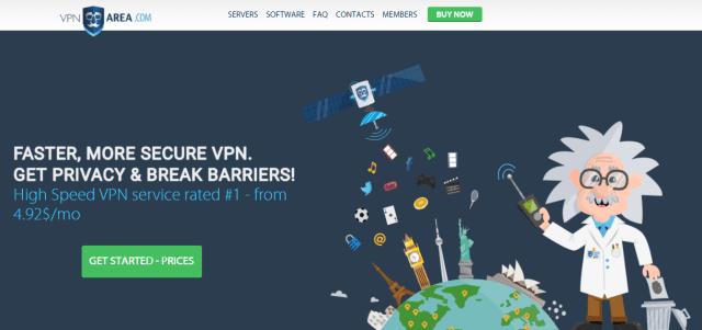 VPNArea - vpn service provider USA