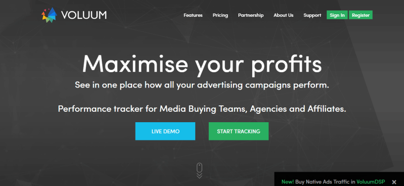 Voluum - Thrive Affiliate Tracker Alternatives