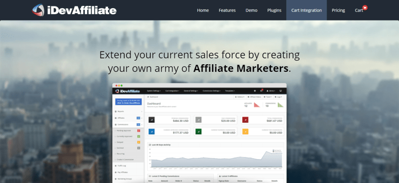 iDevAffiliate - Affiliate Tracking Software