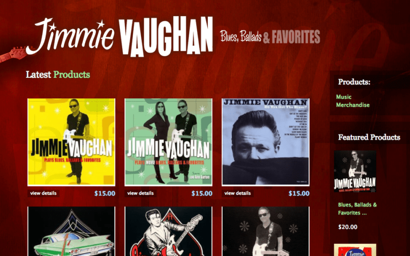 Jimmie Vaughan - Shopify eCommerce