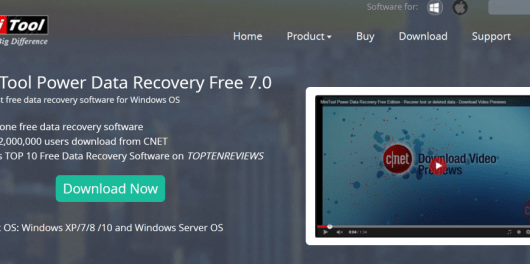 MiniTool Power Data Recovery Review features