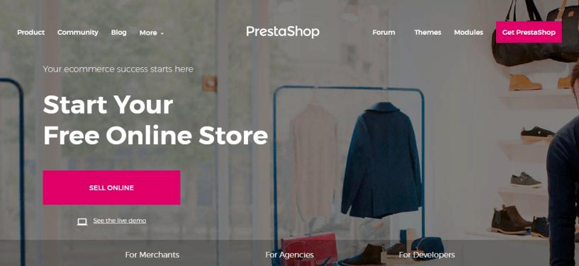 PrestaShop - Best Free ecommerce software
