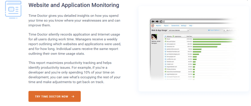 Time Doctor Review - Website and Application Monitoring
