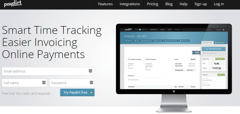 Time Tracking Software Paydirt