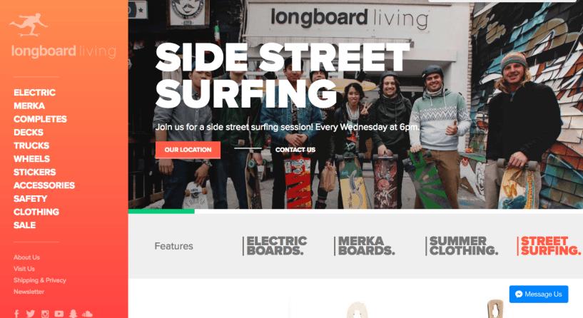 longboard living - shopify store