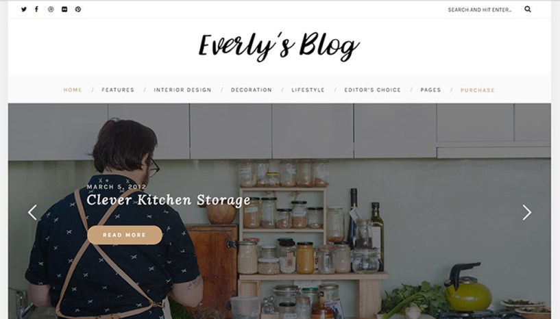 Everly – Hipster Blogging WordPress Theme