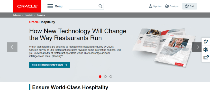 Oracle Hospitality — Top resturant pos software