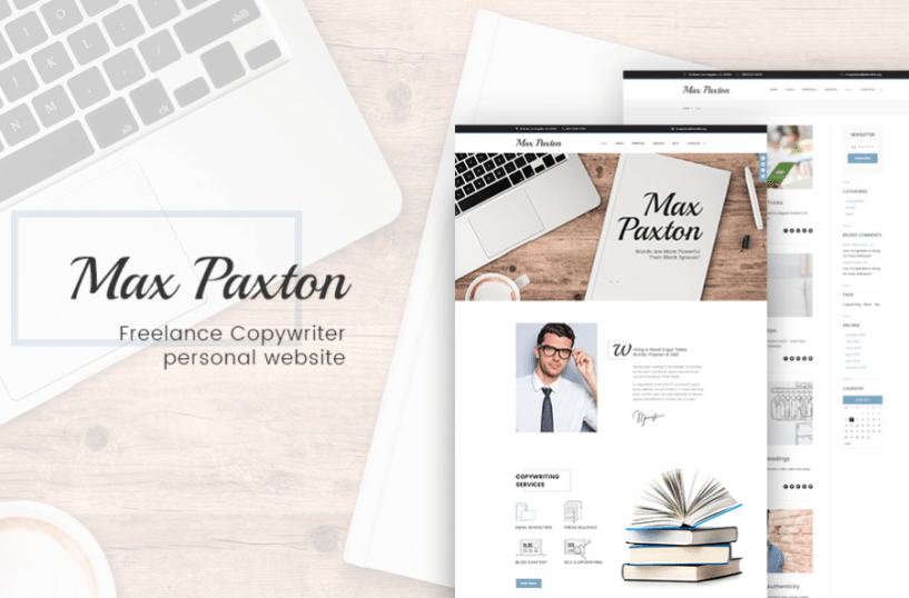 MaxPaxton - Freelance Copywriter and Journalist WordPress Theme