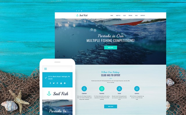Sail Fish - Fishing Club Responsive WordPress Theme