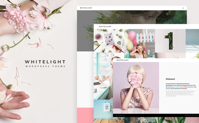 WhiteLight - professional photographer portfolio WordPress Theme