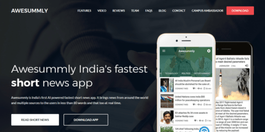 Awesummly Review- Instant Short News App