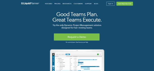 Online Project Management Software - LiquidPlanner