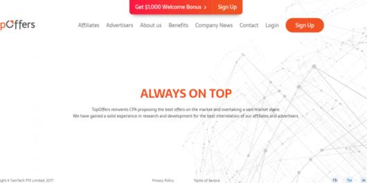 TopOffers Review -Premium Affiliate Network