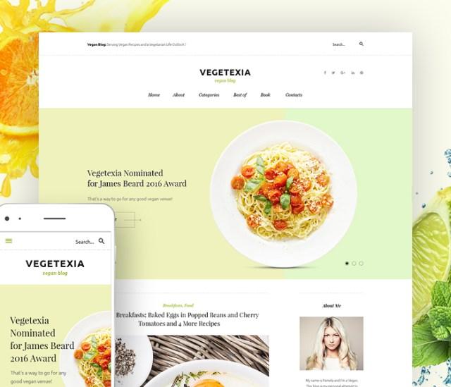 Vegetarian Restaurant Blog WordPress Theme