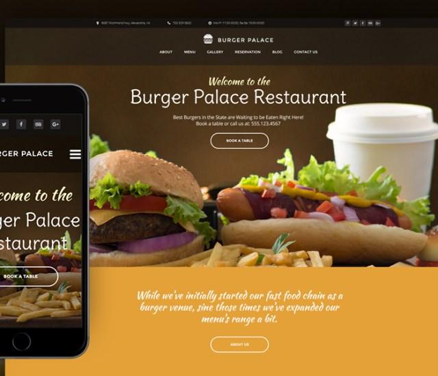 Fast Food Restaurant WordPress Theme
