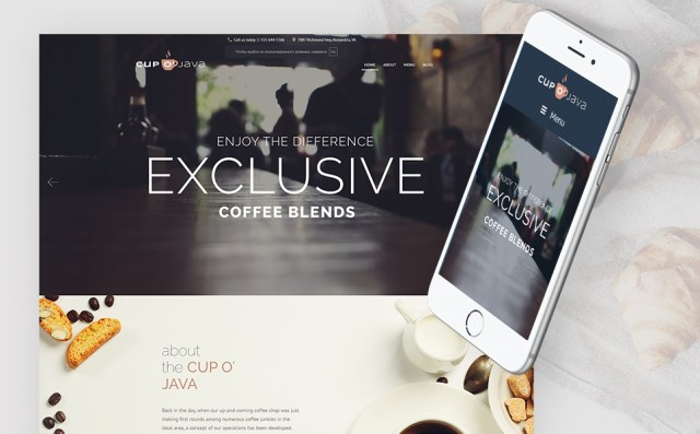 Coffee Shop WordPress Theme