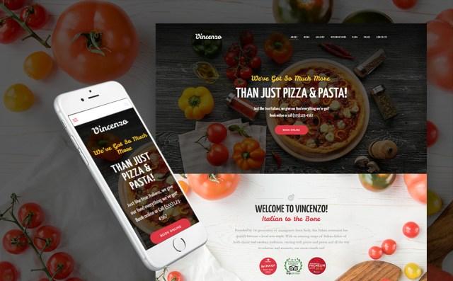 Pizza Restaurant WordPress Theme
