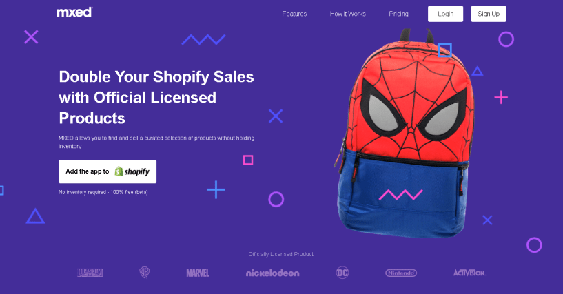 Mxed APP Double Your Shopify Sales with Officially Licensed Products shopify apps
