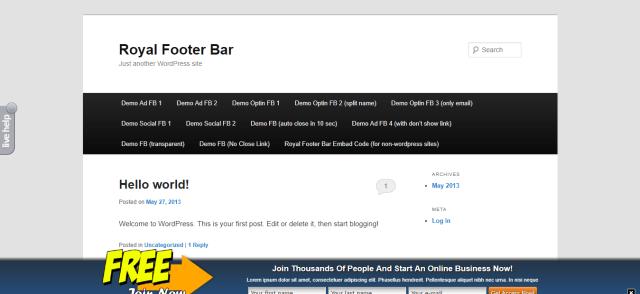 Royal Footer Bar -WordPress Notification Bar Plugin