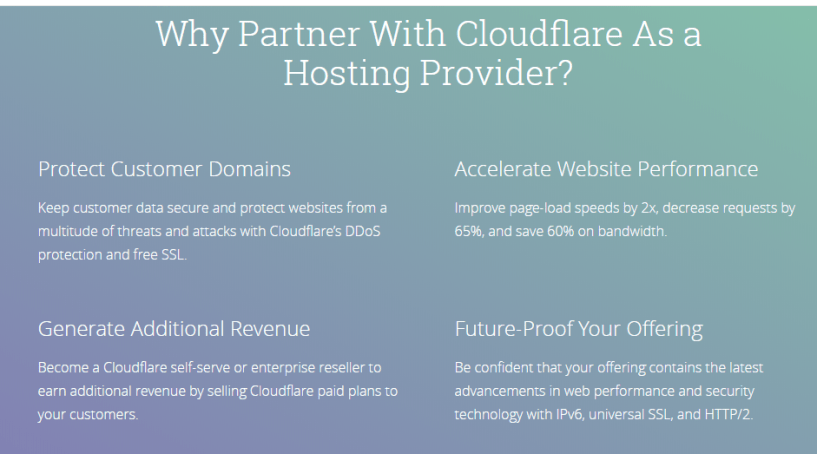 Cloudflare Web Hosting - Benefits