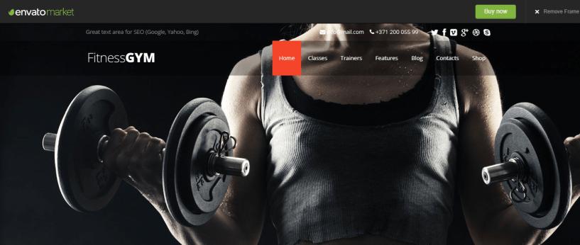 FitnessGYM - WordPress Sports Theme For Club