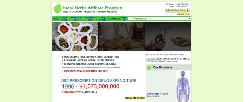 India Herbs - Health Affiliate Program