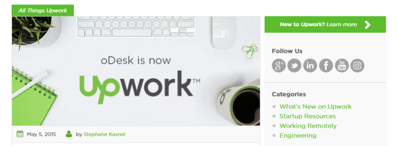 Upwork - Virtual Assistance Job Website