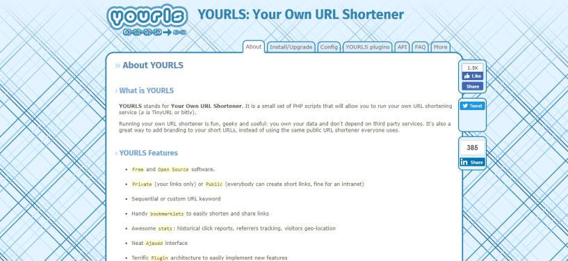 YOURLS Your Own URL Shortener