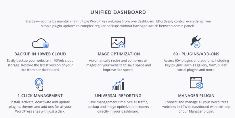 10web Review - WordPress Site Management