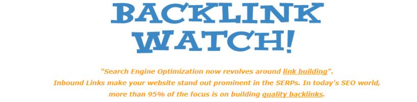 Backlink Watch- Backlinks Watch Tool