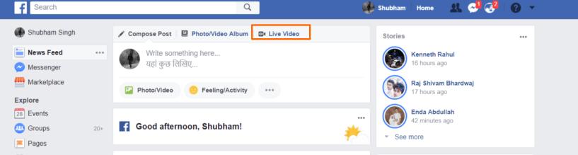 Go Live on Facebook- Facebook Live Broadcast