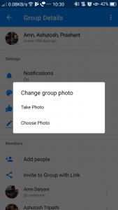 Facebook Messenger- Change Group Photo
