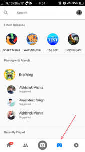 Facebook Messenger- Play Games