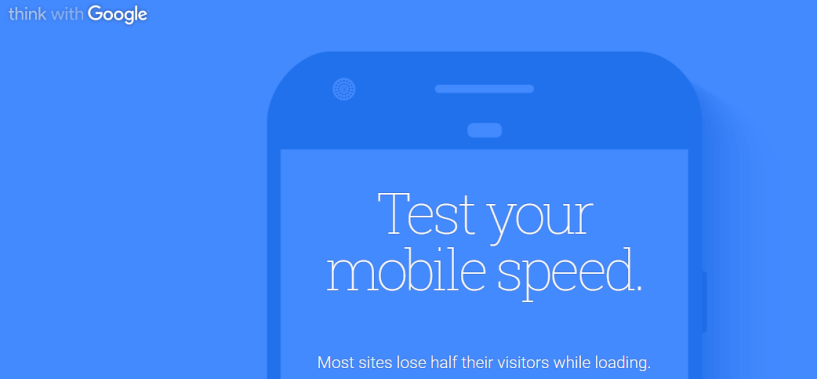 Google Mobile Speed Testing Tool