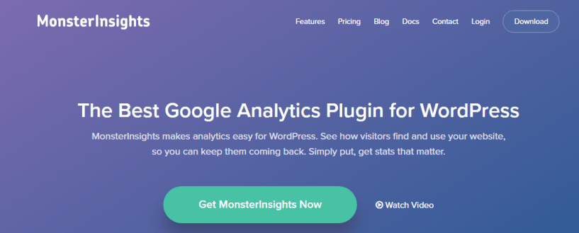 Google Analytics- MonsterInsights
