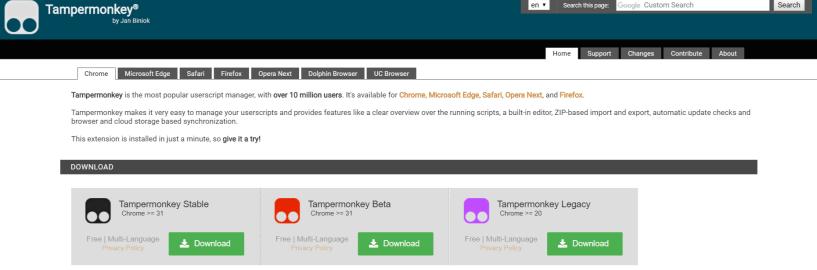 Tampermonkey- Block Adblocks Detection