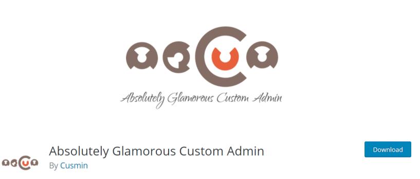 Absolutely Glamorous Custom Admin — WordPress Admin Dashbaord Plugins