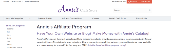 Annie,s- Art Affiliate Programs