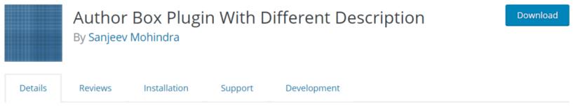 Author Box Plugin With Different Description — WordPress Author Bio Plugins