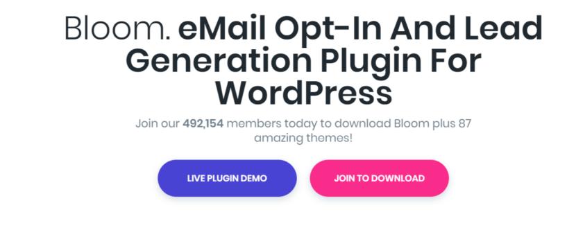Bloom Email Opt In Plugin- WordPress Email Marketing Plugins