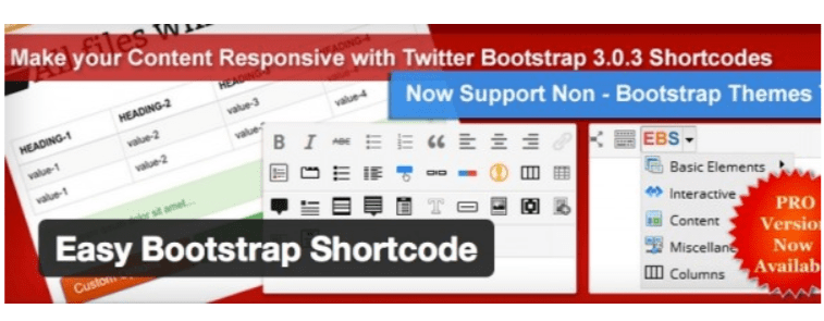 Easy Bootstrap- WordPress Shortcode Plugins