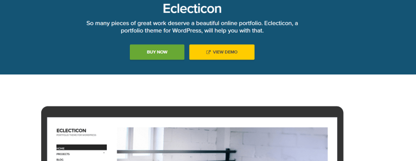 Eclecticon -Photography WordPress Themes