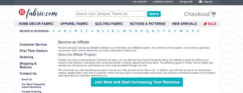 Fabric- Art Affiliate Programs