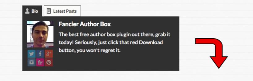 Fancier Author Box — WordPress Author Bio Plugins