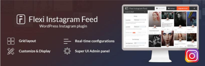 Flexi Instagram Feed — WordPress Instagram Plugins
