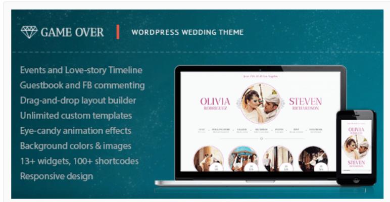Game Over- WordPress Wedding Themes