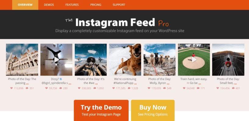 Instagram Feed Pro- WordPress Instagram Plugins