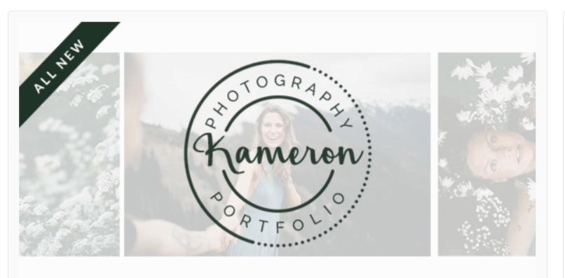 Kameron- Photography WordPress Themes